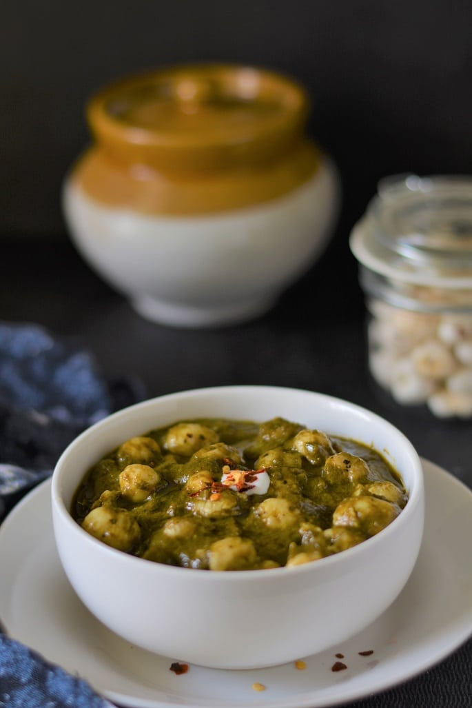 Image result for Palak Makhana Recipe