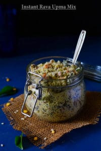 Homemade Instant Rava Upma Mix for Making Upma/ Rava Idli- Travel Food
