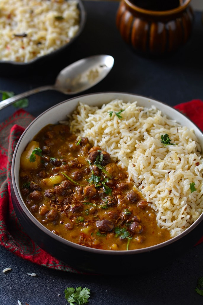 kala chana curry