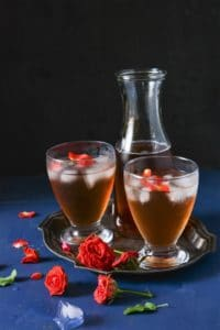 How To Make Fresh Rose Syrup ,Gulab ka sharbat