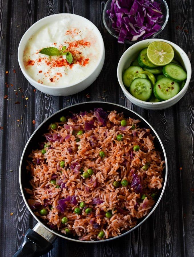 purple cabbage rice
