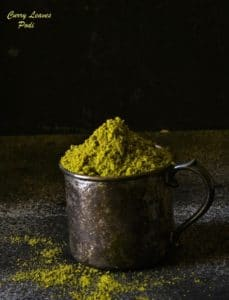 Curry Leaves Podi Recipe