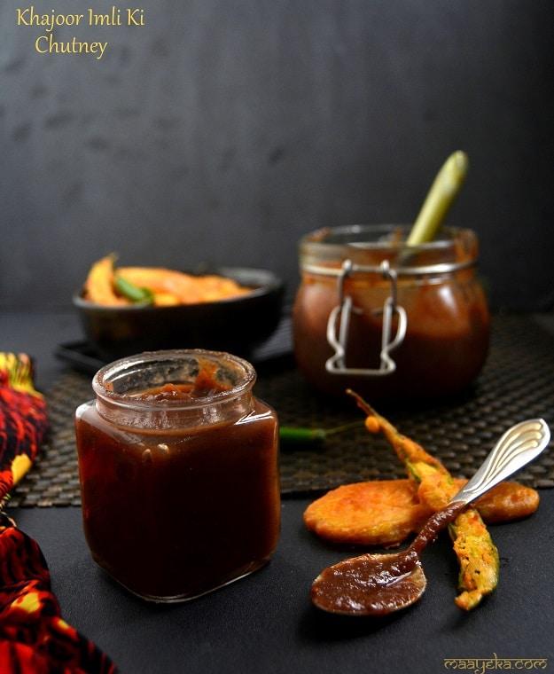 date tamarind chutney Khajoor Imli Chtney