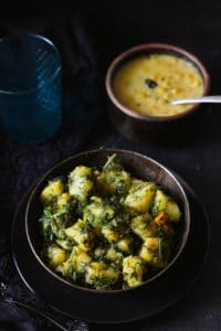 Aloo Suva ki Sabzi Recipe, Dill leaves and Potato stir fry