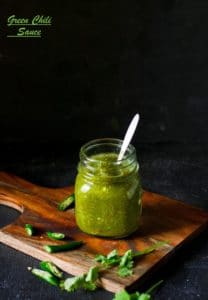 Instant Green Chili Sauce Recipe