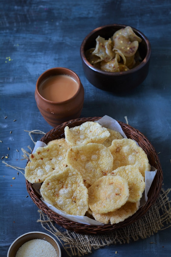 sooji ke papad recipe