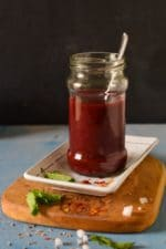 Instant Plum Chutney- No Cook Recipe
