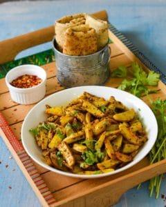 Arbi Ki Bhujiya, Colocassia Stir fry