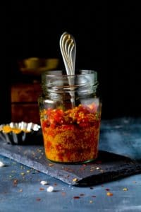 instant red chili pickle