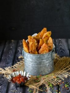 Potato Wedges, Crispy Spiced Potato Wedges