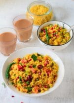 Aloo Poha Recipe, How To make Batata Poha-Video Recipe
