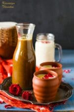 How to make Thandai Concentrate , Thandai Syrup Recipe