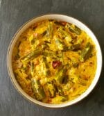 Malai Dahi Bhindi Recipe+Video
